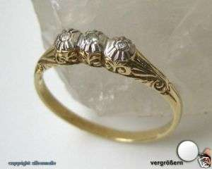 Diamantring Gold Ring Ringe 14Kt 585 14 Kt Gold Damen Antikring