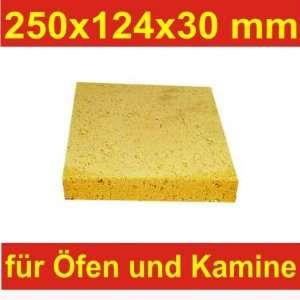Schamotte Schamotteplatten Schamottstein Schamott 250x124x30mm