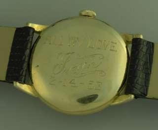 VINTAGE UNIVERSAL GENEVE 14K GOLD F. MENS WRIST WATCH – CAL 265