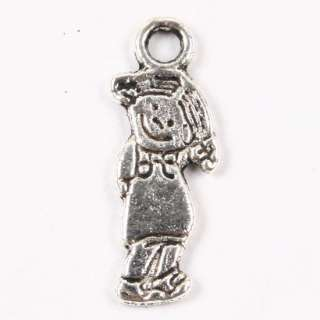 Lot 100p Vintage Tibetan Silver Lovely Girl Charm Pendant Beads