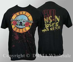 Authentic GUNS N ROSES Bullet Blood Logo T Shirt S M L XL XXL NEW