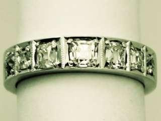 fine 1.62 carat diamond and 18ct white gold half eternity ring; part