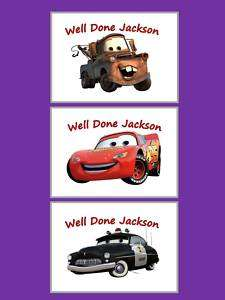 DISNEY CARS Reward Chart with Chocolates + stickers