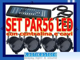 SET 4 Fari PAR56 tecnologia LED par 56 dmx + centralina