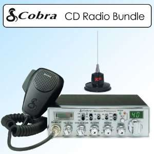 Cobra 29 WXNWST Nightwatch Illuminated Display Mobile CB Radio Bundle