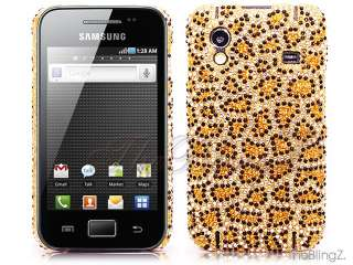 BLING LEOPARD RHINESTONE DIAMOND CRYSTAL CASE COVER SAMSUNG GALAXY ACE