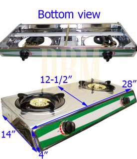 Stainless Steel Dual 2 Burners Portable Propane Stove