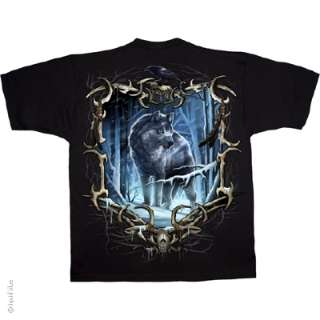 Liquid Blue  WOLF RUN  T shirt/Top LARGE
