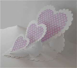Triple Scalloped Heart Easel Card + Heart Shaped Envelope Template