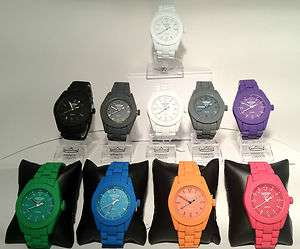 NY RUBBER FEEL METAL STRAP,ICE & TOYSTYLE LADIES MENS UNISEX WATCH