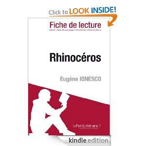 Rhinocéros de Eugène Ionesco (Fiche de lecture) (French Edition