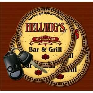 HELLWIGS Family Name Bar & Grill Coasters: Kitchen