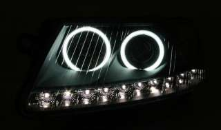 FARI ANTERIORI A LED AUDI A6 4F ANGEL EYES BIANCHI DAYLINE DEVIL EYES