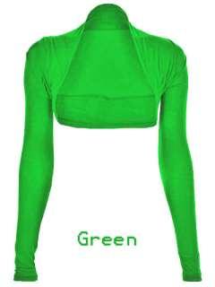 Full Long Sleeve Womens Shrug Bolero Cardigan Size 8 12