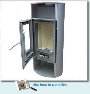 OSPREY contemporary wood burning stove, a simply stunning contemporary