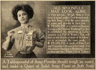 1909 Ad James Pyle Pearline Washing Powder Soap Laundry   ORIGINAL