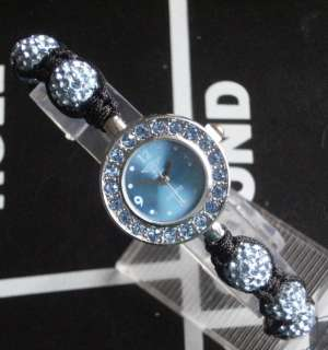 WATCH SHAMBALLA CELEBRITY CRYSTAL DISCO BALL BLING BRACELET DIAMANTE