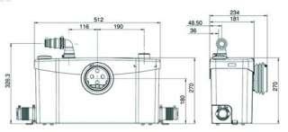 SFA SANITRIT  SANIPLUS   Pompa trituratore per scarico bagno completo