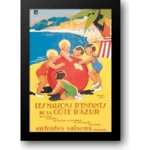 Cote DAzur 24x33 Framed Art Print by Mallet, Beatrice: Home & Kitchen
