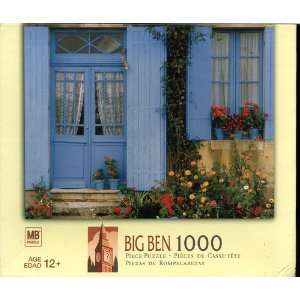 Big Ben 1000 Piece Puzzle   House with Blue Front Doors