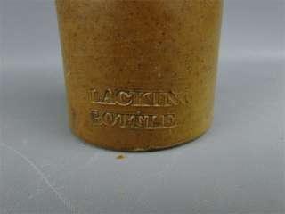Antique Printers Blacking Bottle Stoneware Brown Glaze