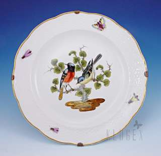Antique Herend Rothschild Bird Wall Plate