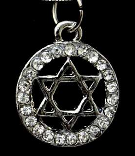 Star of David & Crystals Israel Jewish Judaica Necklace