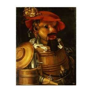 The Waiter Winemaking Giuseppe Arcimboldo. 16.25 inches