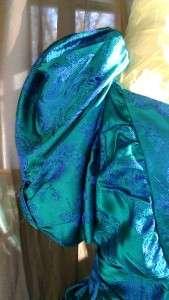 Vintage green dress St. Patricks Day prom gown 1940s wedding bridal