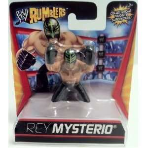 WWE Wrestling Rumblers Mini Figure Rey Mysterio Black Mask Pants