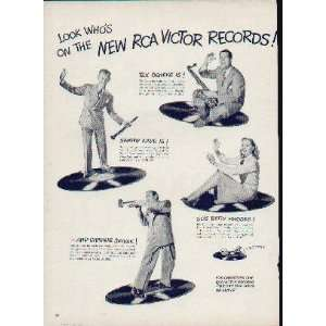On The New RCA Victor Records TEX BENEKE, SAMMY KAYE, BETTY RHODES