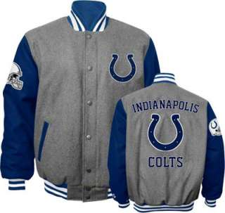 Indianapolis Colts Grey Wool Varsity Jacket