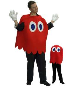 / Pac Man Blinky Ghost Adult Costume