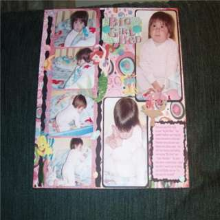 Big Girl Bed ScrapBooking Project