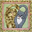 Cats Meow Quilt Magic No Sew Wall Hanging Kit