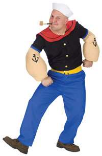 Adult Popeye Costume   Funny Cartoon Costumes
