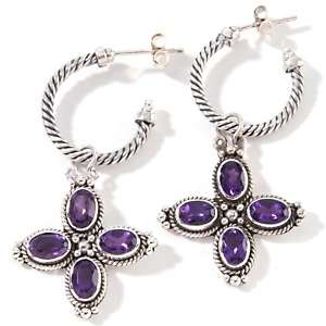 Designs by Robert Manse Oval Gemstone Drop Sterling Silver Earrings