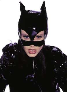 costumes in shopping cart sleek catwoman mask