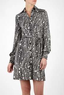 Milly  Chain Print Jersey Shirt Dress by Milly