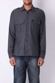 Grey Military Flannel Shirt by Burberry Brit   Grey   Buy Shirts