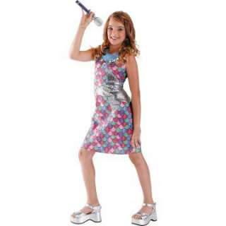 Hannah Montana Movie Dress Child Costume   Includes Dress. Microphone
