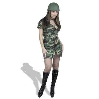 GI Gal Double Zip Dress Adult Costume     1617982