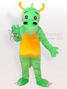 Big Nostril Green Dinosaur Adult Mascot Costume  Big Nostril Green