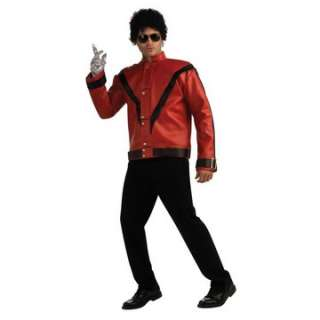 Jackson Thriller Jacket A   Leather like red jacket fashioned right