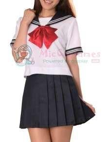 Sleeves Sailor School Girl Cosplay Costume  Buy Short Sleeves Sailor