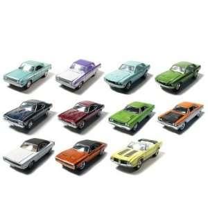 Set of 12 Greenlight Muscle Car Garage Stock & Custom