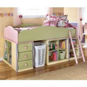 Doll House Loft Bed Bedroom Set B140 loftb br set Home & Kitchen