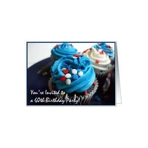 Happy 60th Birthday Invitation Cupcakes Card: Toys & Games