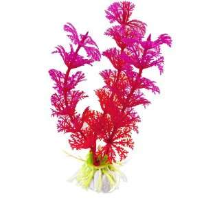 Como 10 Pcs Fish Tank Plastic Red Fuchsia Water Plats