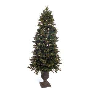Potted Pine Artificial Christmas Tree   Clear Lights
